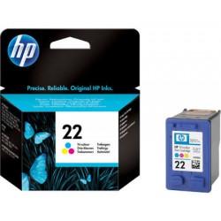 HP 22 22 Cartucho de tinta - Paquete de 1 Color (cian, magenta, amarillo)