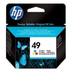 HP 49 Large Cartucho de tinta - Paquete de 1 Color (cian, magenta, amarillo)