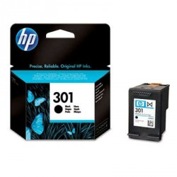 HP 301 Cartucho de tinta - Paquete de 1 Negro