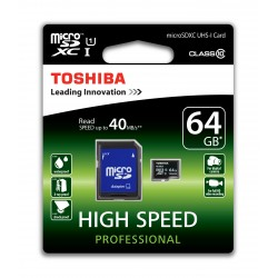 MICRO SD TOSHIBA 64GB CLASE 10